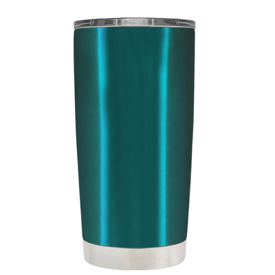 Beach Hair Tan Lines and Mermaid Vibes on Teal 20 oz Tumbler Cup