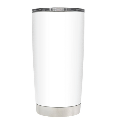 Beach Hair Tan Lines and Mermaid Vibes on White 20 oz Tumbler Cup
