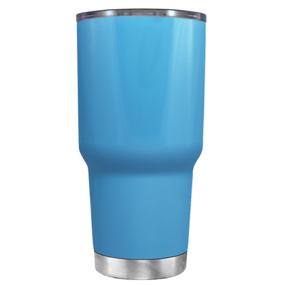 2018 Graduation Cap Monogram on Baby Blue 30 oz Tumbler Cup