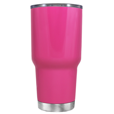 Be a Mermaid and Make Waves on Bright Pink 30 oz Tumbler Cup