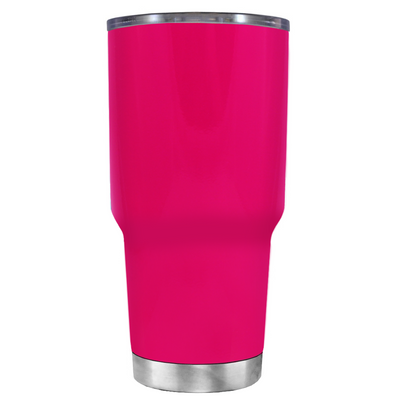 Beach Hair Tan Lines and Mermaid Vibes on Hot Pink 30 oz Tumbler Cup