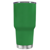 Beach Hair Tan Lines and Mermaid Vibes on Kelly Green 30 oz Tumbler Cup