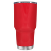 Beach Hair Tan Lines and Mermaid Vibes on Red 30 oz Tumbler Cup