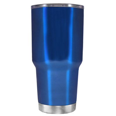 2018 Graduation Cap Monogram on Translucent Blue 30 oz Tumbler Cup
