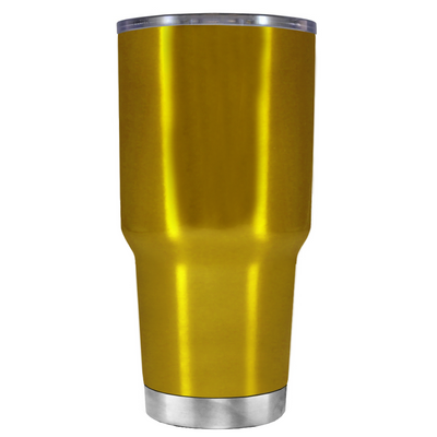 Beach Hair Tan Lines and Mermaid Vibes on Translucent Gold 30 oz Tumbler Cup