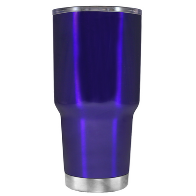 Beach Hair Tan Lines and Mermaid Vibes on Intense Blue 30 oz Tumbler Cup
