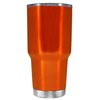 Beach Hair Tan Lines and Mermaid Vibes on Translucent Orange 30 oz Tumbler Cup