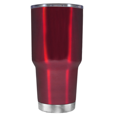Be a Mermaid and Make Waves on Translucent Red 30 oz Tumbler Cup