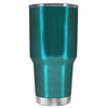 Beach Hair Tan Lines and Mermaid Vibes on Teal 30 oz Tumbler Cup