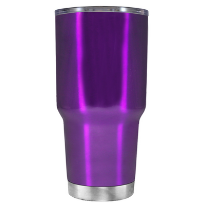 2018 Graduation Cap Monogram on Violet 30 oz Tumbler Cup