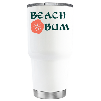 Beach Bum on White Tumbler