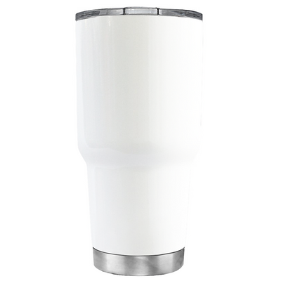 Beach Bum on White 30 oz Tumbler