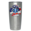 YETI 20 oz Paramedic American Flag on Stainless Steel EMS Tumbler