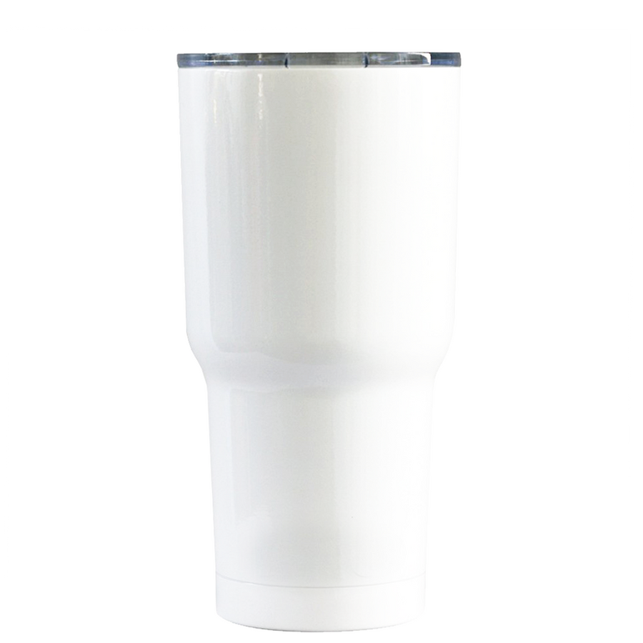 RTIC 20 oz I Like Big Bows on White Gloss Cheerleader Tumbler