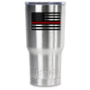 RTIC USA EMS Fire Red Line Flag Personalized 20oz Tumbler - TrekTumblers
