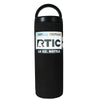 RTIC Black Matte 18 oz Bottle - TrekTumblers