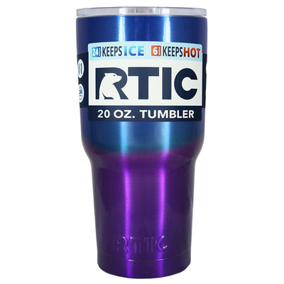 RTIC Blue Purple Translucent Ombre Fade 20 oz Tumbler