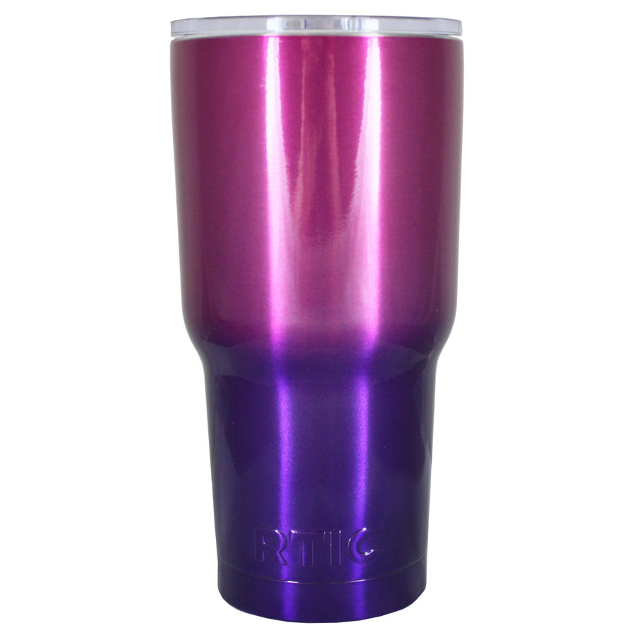 RTIC Pink Purple Translucent Ombre Fade 20 oz Tumbler