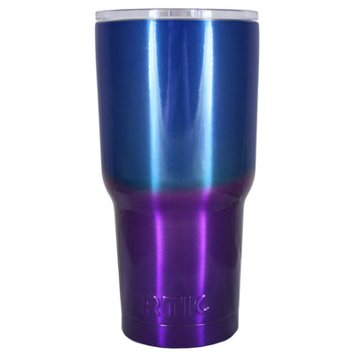 RTIC Blue Purple Translucent Ombre Fade 30 oz Tumbler
