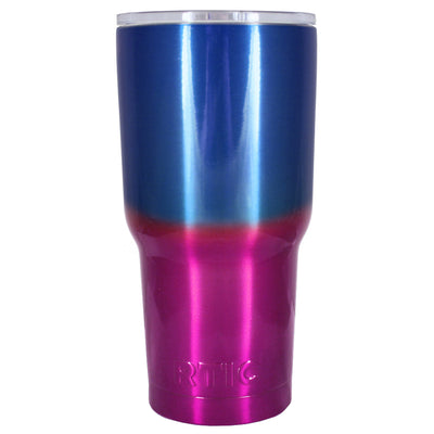 RTIC Blue Pink Translucent Ombre Fade 30 oz Tumbler