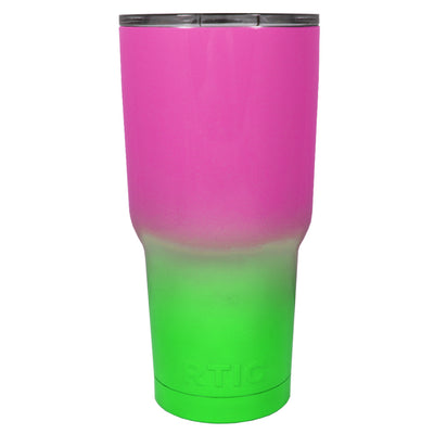 RTIC Pink Neon Green Ombre Fade 30 oz Tumbler