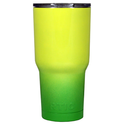 RTIC Yellow Green Gloss Ombre Fade 30 oz Tumbler