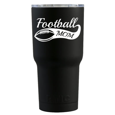 RTIC Football Mom on Black Matte 30 oz Tumbler - TrekTumblers