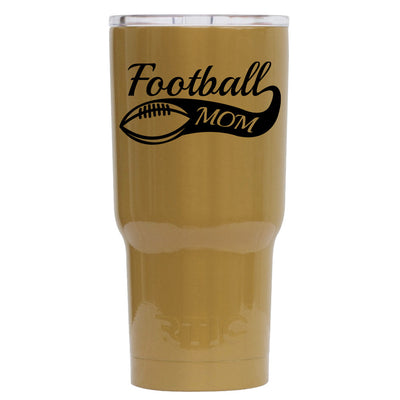 RTIC Football Mom on Gold 30 oz Tumbler - TrekTumblers