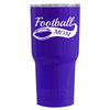 RTIC Football Mom on Purple 30 oz Tumbler - TrekTumblers