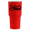 RTIC Football Mom on Red Gloss 30 oz Tumbler