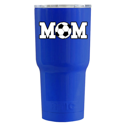 RTIC Soccer Mom on Blue Gloss 30 oz Tumbler
