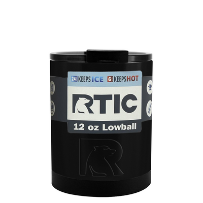 RTIC Black Gloss 12 oz Lowball Tumbler