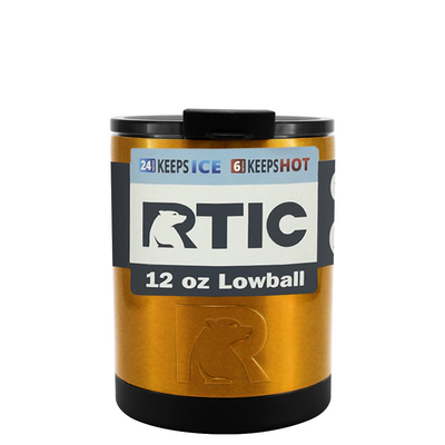 RTIC Copper Translucent 12 oz Lowball Tumbler