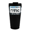 RTIC Black Matte 16 oz Pint Tumbler