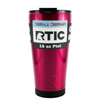 RTIC Hot Pink Translucent 16 oz Pint Tumbler