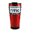 RTIC Red Translucent 16 oz Pint Tumbler