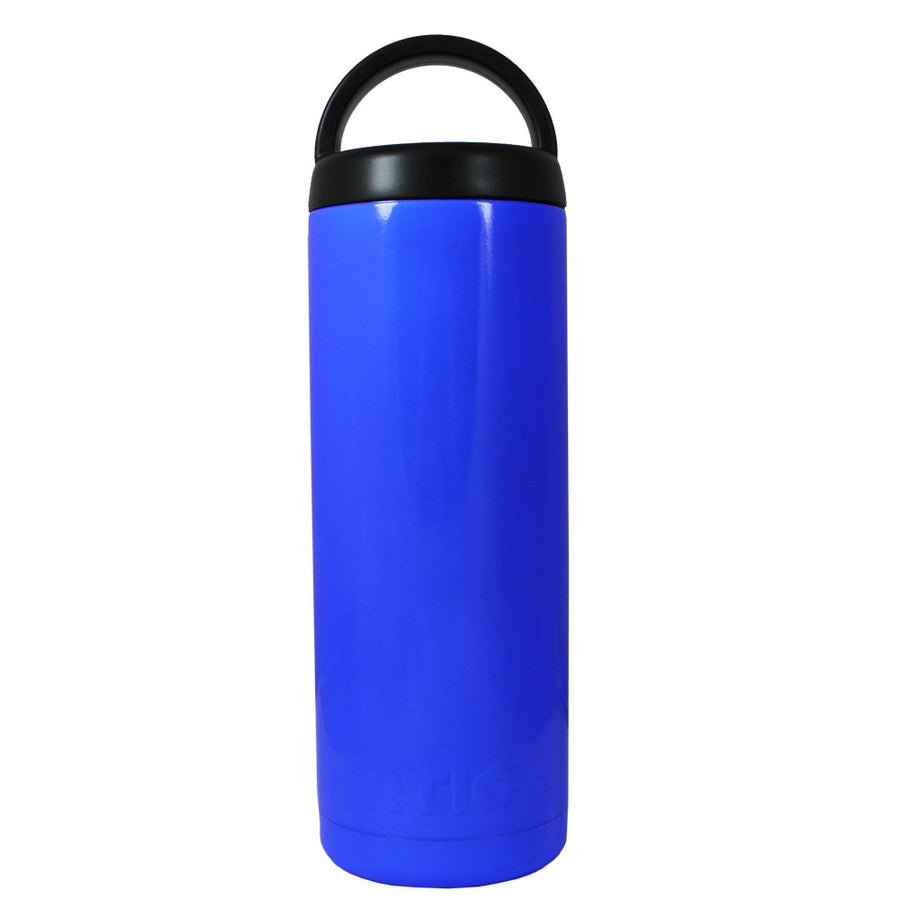 RTIC Blue Gloss 18 oz Bottle - TrekTumblers