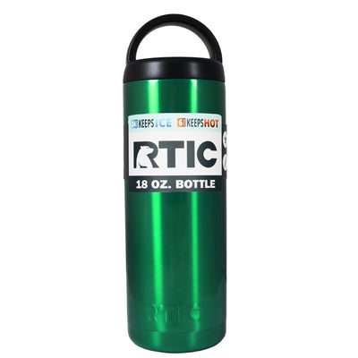 RTIC Green Translucent 18 oz Bottle - TrekTumblers
