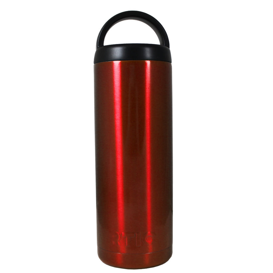 RTIC Red Translucent 18 oz Bottle - TrekTumblers
