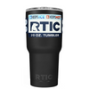 Custom RTIC 20 oz Black Matte Design Your Own Tumbler