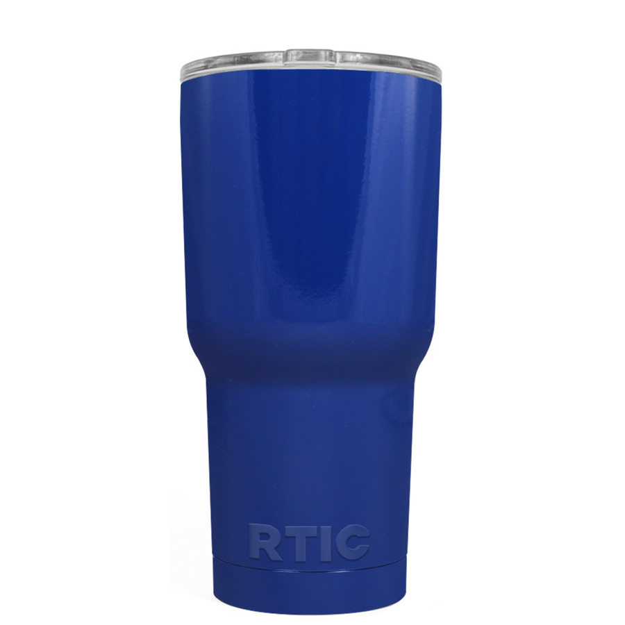 Custom RTIC 20 oz Blue Gloss Design Your Own Tumbler