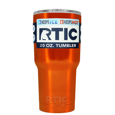 RTIC Orange Translucent 20 oz Tumbler