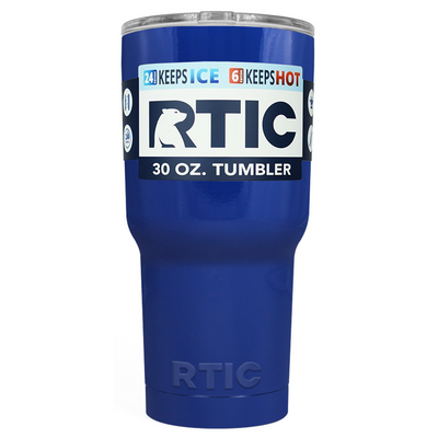 Custom Designed RTIC Blue Gloss 30 oz Tumbler