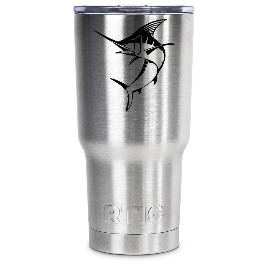 RTIC Marlin Silhouette Personalized 30 oz Tumbler - TrekTumblers