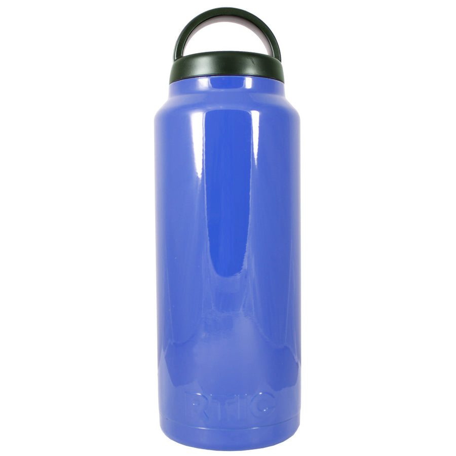 RTIC Blue Gloss 36 oz Bottle - TrekTumblers