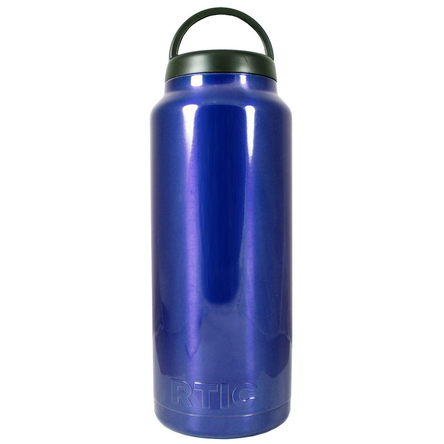 RTIC Blue Translucent 36 oz Bottle - TrekTumblers
