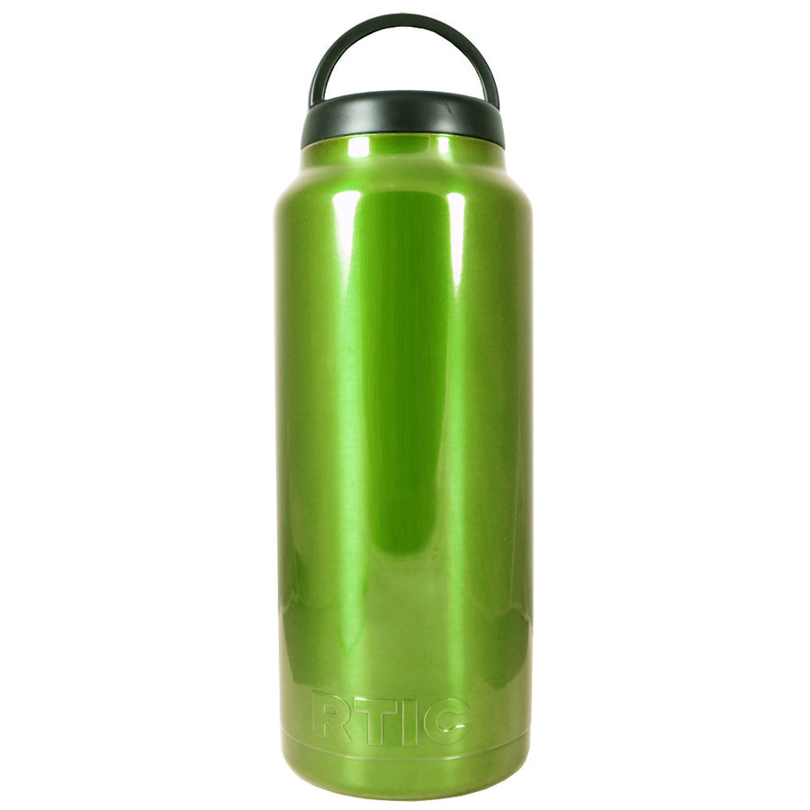 RTIC Candy Green Apple Translucent 36 oz Bottle - TrekTumblers