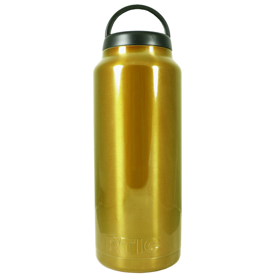 RTIC Gold Translucent 36 oz Bottle - TrekTumblers