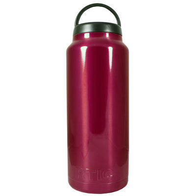 RTIC Red Translucent 36 oz Bottle - TrekTumblers