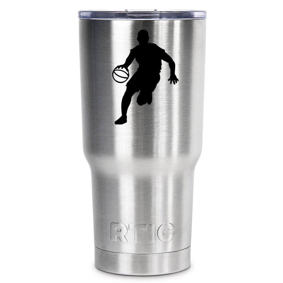 RTIC Basketball Player Silhouette Personalized 30 oz Tumbler - TrekTumblers